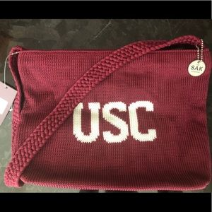 The SAK USC university logo tote purse bag